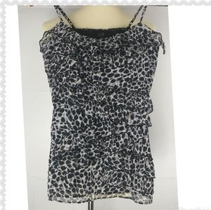 Leopard Ruffled Top S